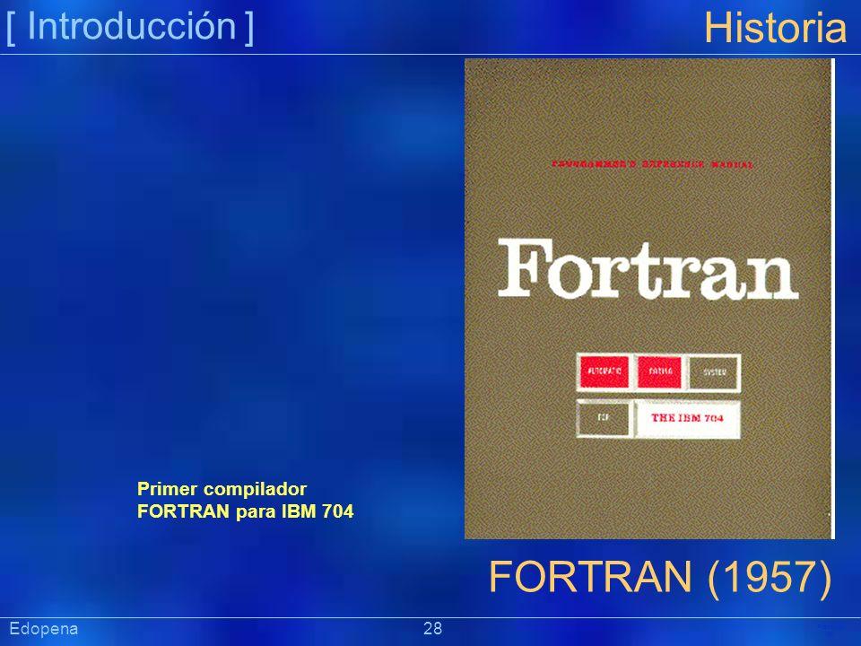Historia FORTRAN (1957) [ Introducción ]